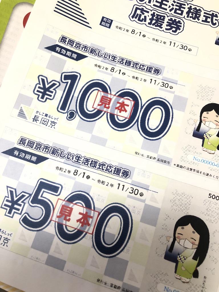 長岡京市からの応援券!